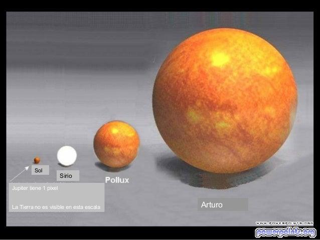 SolSirioArturoJupiter tiene 1 pixelLa Tierra no es visible en esta escala