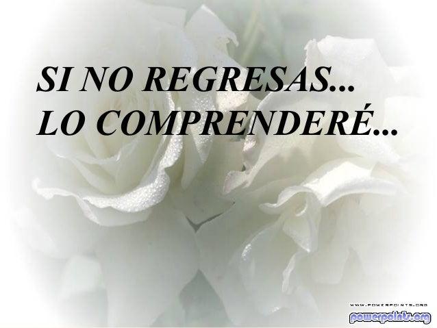 Ria Slides SI NO REGRESAS... LO COMPRENDERÉ...