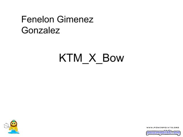 Fenelon GimenezGonzalez       KTM_X_Bow