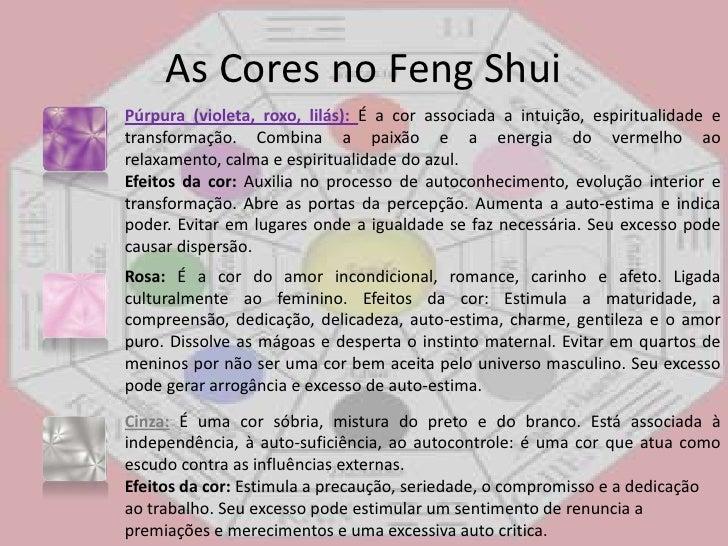 Feng shui for Cores sala de estar feng shui
