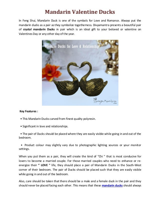 Feng Shui Mandarin Valentine Ducks For Love Amp Relationship