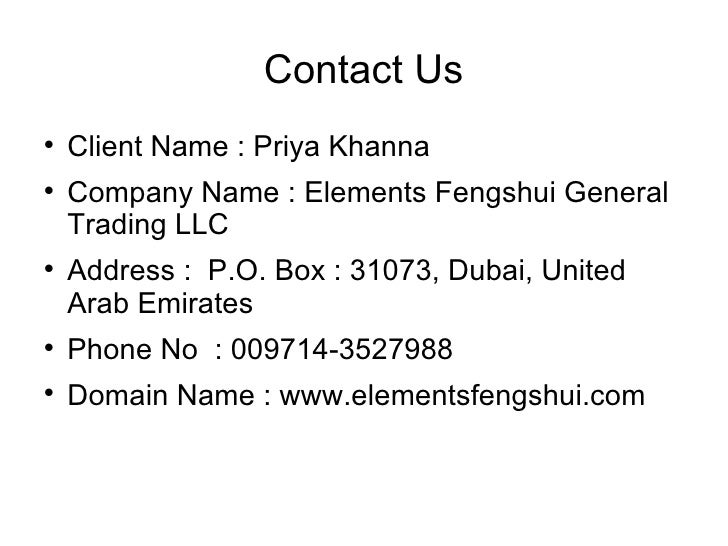 Feng Shui Workshops And Shops In Dubai