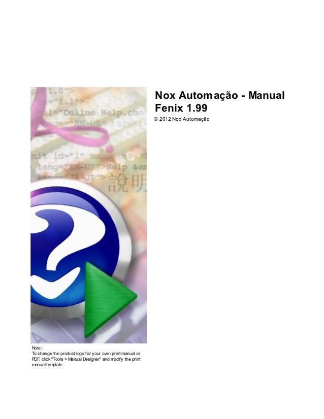 Nox Automação - Manual                                                            Fenix 1.99                              ...