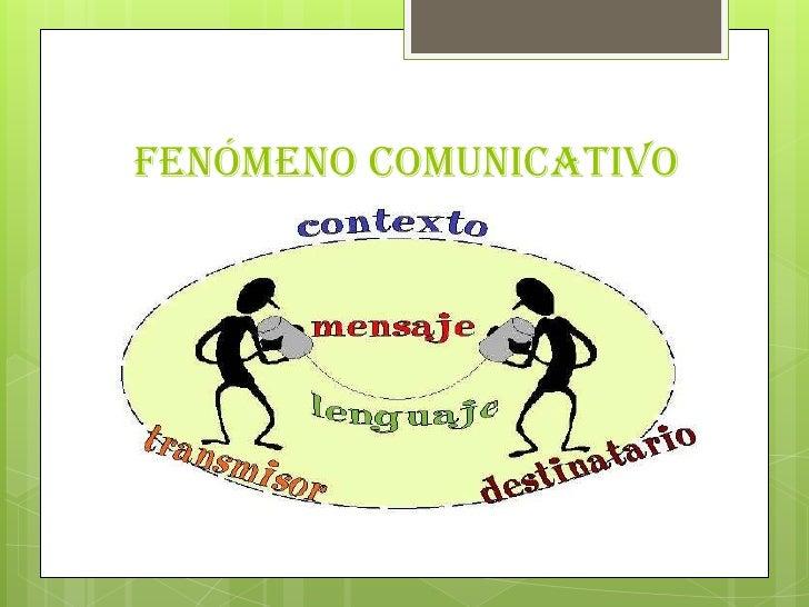 Fenómeno comunicativo<br />