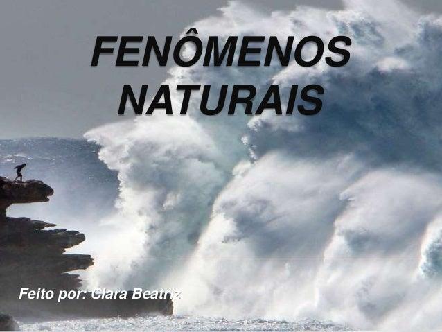 FENÔMENOS NATURAIS Feito por: Clara Beatriz