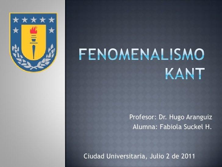 Profesor: Dr. Hugo Aranguiz Alumna: Fabiola Suckel H. Ciudad Universitaria, Julio 2 de 2011