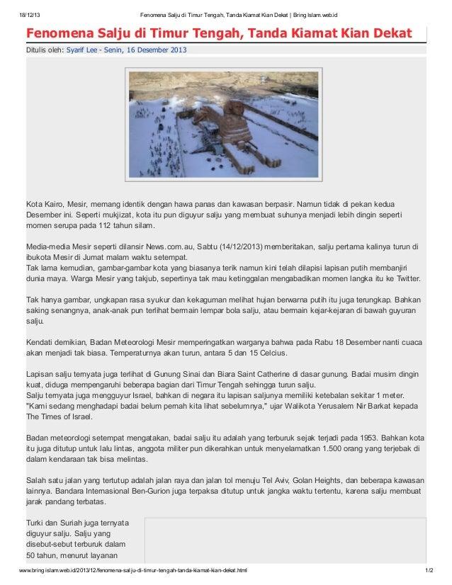 18/12/13  Fenomena Salju di Timur Tengah, Tanda Kiamat Kian Dekat   BringIslam.web.id  Fenomena Salju di Timur Tengah, Tan...