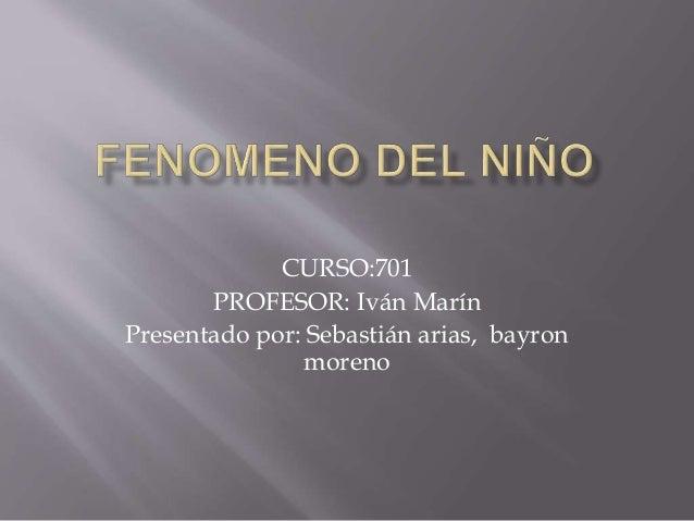 CURSO:701 PROFESOR: Iván Marín Presentado por: Sebastián arias, bayron moreno