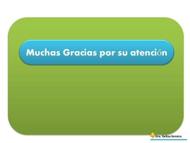 Muchas Gracias por su atención Dra. Yaritza Ferreira