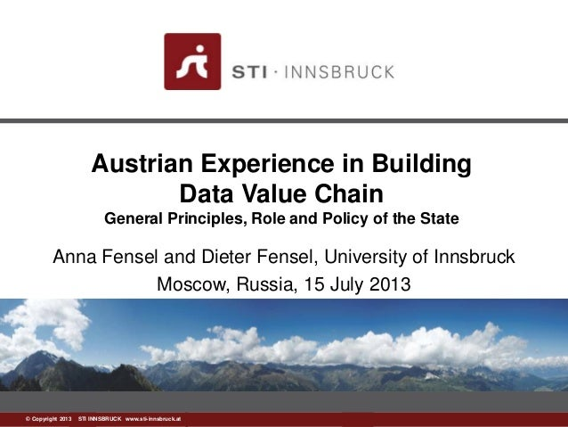 www.sti-innsbruck.at© Copyright 2013 STI INNSBRUCK www.sti-innsbruck.at Austrian Experience in Building Data Value Chain G...