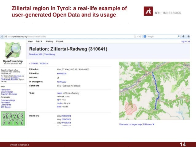 www.sti-innsbruck.at Zillertal region in Tyrol: a real-life example of user-generated Open Data and its usage 14