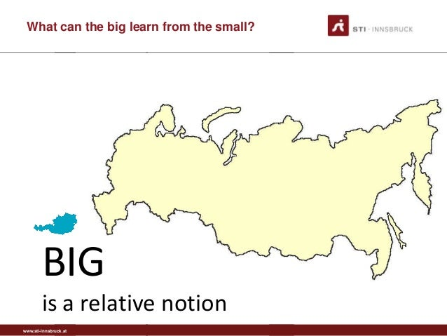 www.sti-innsbruck.at What can the big learn from the small? BIG is a relative notion
