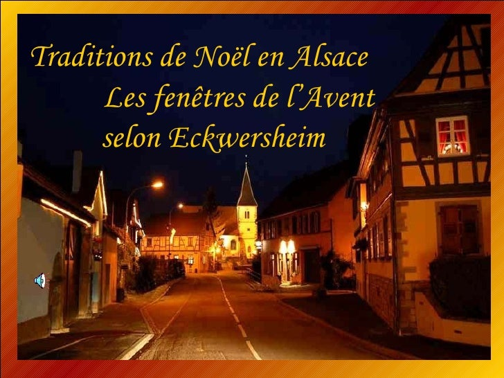 Traditions de Noël en Alsace  Les fenêtres de l'Avent selon Eckwersheim