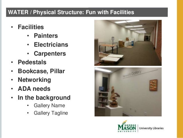 WATER / Physical Structure: Fun with Facilities  • Facilities  • Painters  • Electricians  • Carpenters  • Pedestals  • Bo...