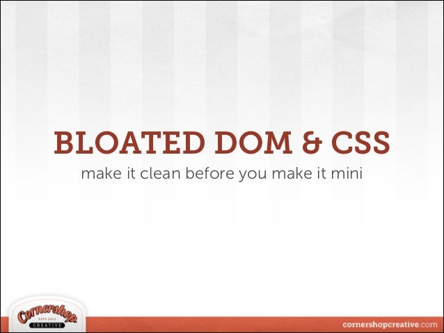 Front-End Performance Optimization in WordPress slideshare - 웹