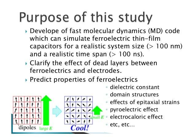 Molecular dynamics simulations of ferroelectrics with feram code
