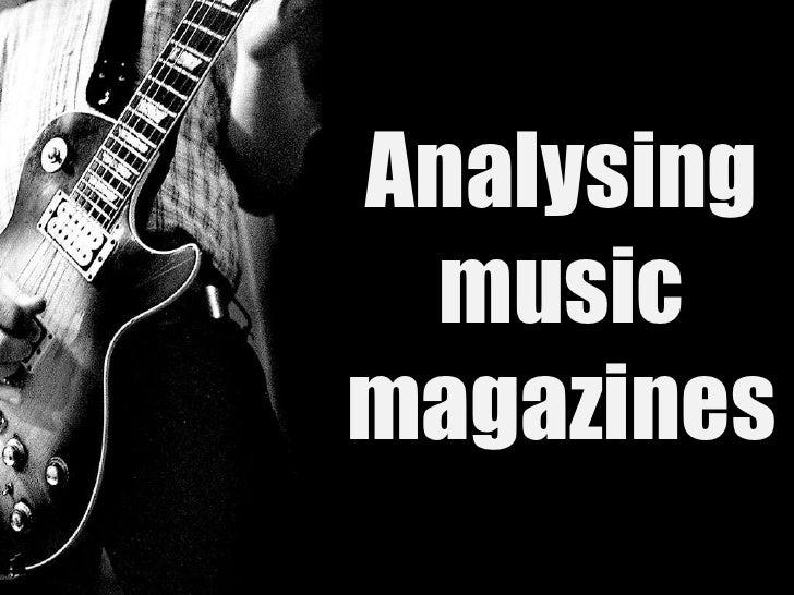 Analysingmusicmagazines<br />