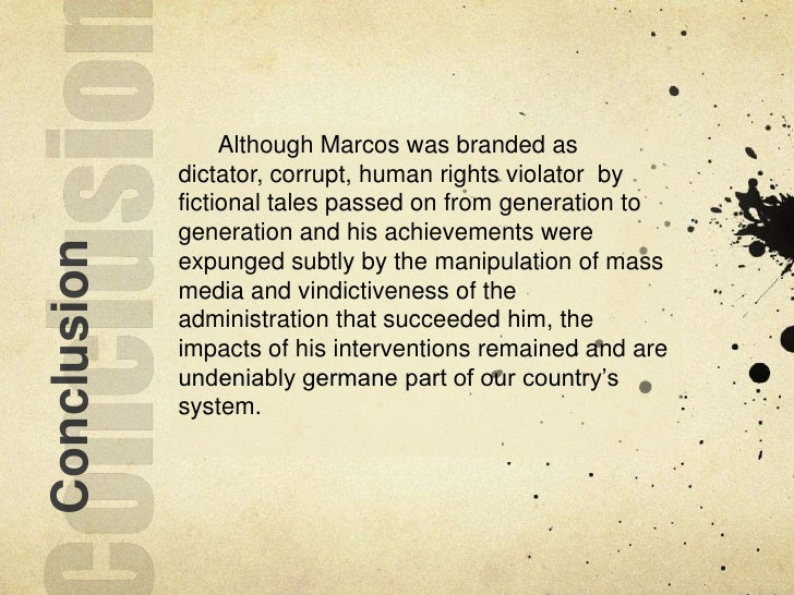 Ferdinand marcos motivation to create martial law essays