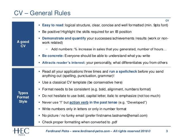 Ferdinand petra - CV and cover letter optimization Slide 3