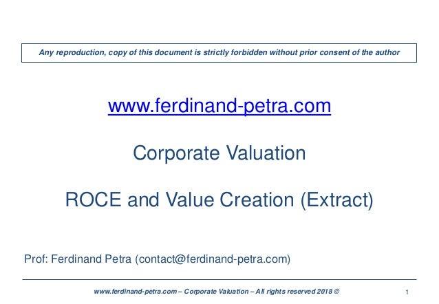 1www.ferdinand-petra.com – Corporate Valuation – All rights reserved 2018 © www.ferdinand-petra.com Corporate Valuation RO...