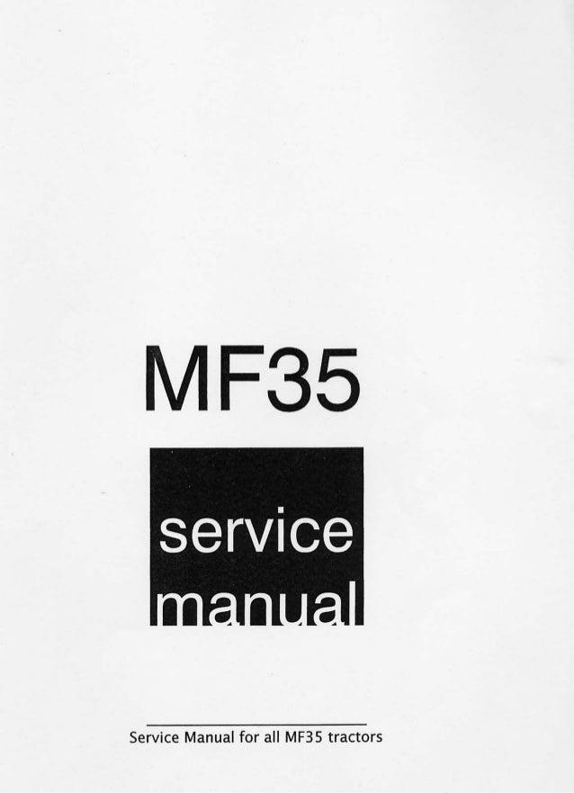 Ferguson mf35 værksted manual