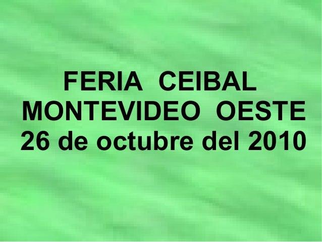 FERIA CEIBAL MONTEVIDEO OESTE 26 de octubre del 2010