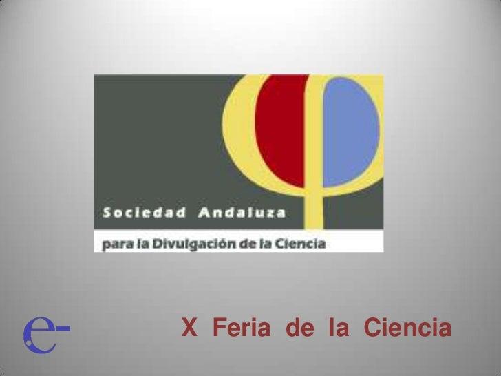 X Feria de la Ciencia