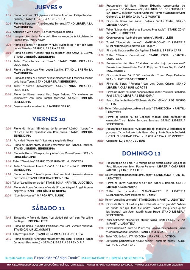 """Jueves 9 12:15 Firma de libros: """"El gigante y el huevo frito"""" con Felipe Sánchez Casado. STAND LIBRERÍA SERENDIPIA 12:30..."""