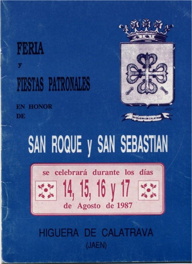 LIBRO FERIA Y FIESTAS HIGUERA DE CALATRAVA 1987