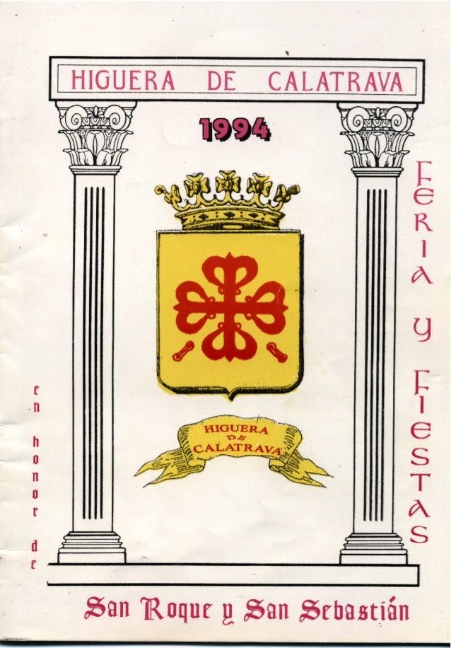 LIBRO DE FERIA Y FIESTAS HIGUERA DE CALATRAVA 1994