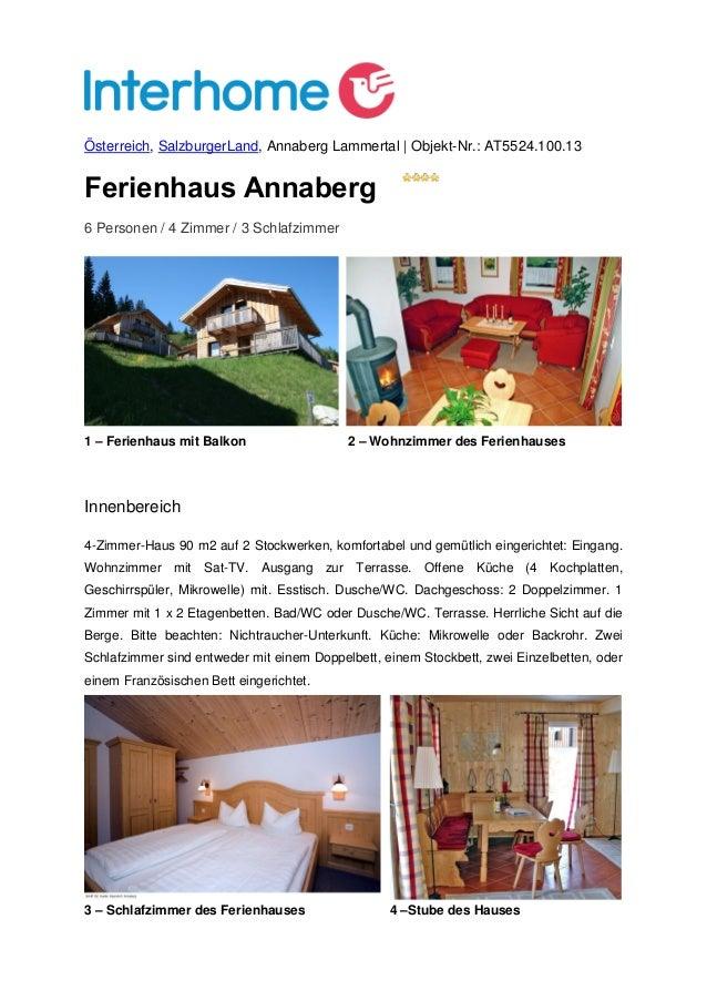 Österreich, SalzburgerLand, Annaberg Lammertal | Objekt-Nr.: AT5524.100.13Ferienhaus Annaberg6 Personen / 4 Zimmer / 3 Sch...