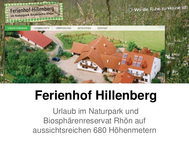 Ferienhof Hillenberg Hillenberg 1, 97647 Hausen-Hillenberg