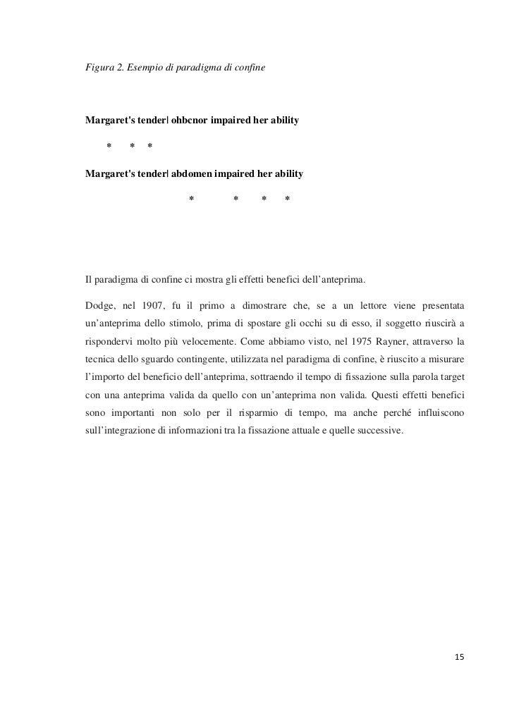 Figura 2. Esempio di paradigma di confineMargarets tender| ohbcnor impaired her ability     *     *   *Margarets tender| a...