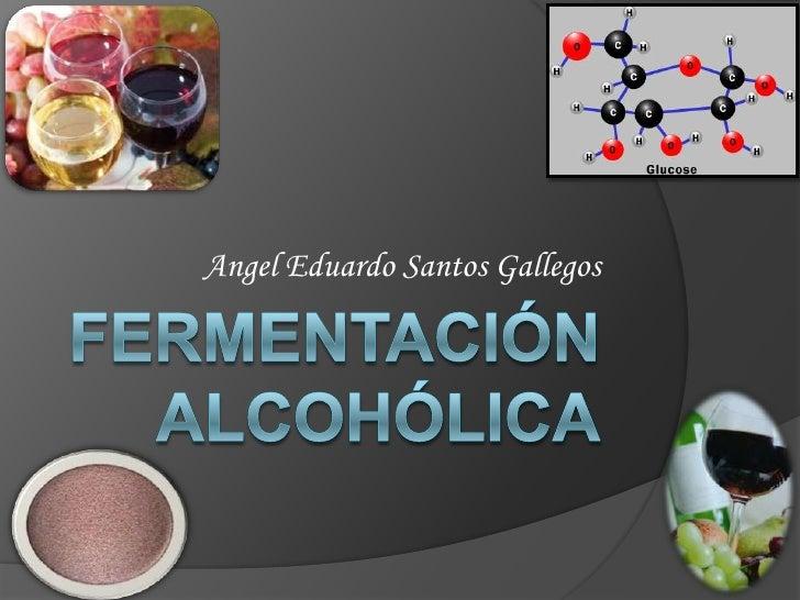 FERMENTACIÓN ALCOHÓLICA<br />Angel Eduardo Santos Gallegos<br />