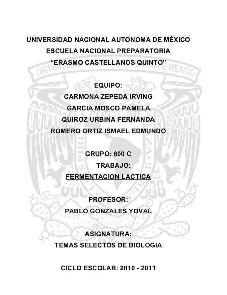 "UNIVERSIDAD NACIONAL AUTONOMA DE MÉXICO    ESCUELA NACIONAL PREPARATORIA     ""ERASMO CASTELLANOS QUINTO""                 E..."