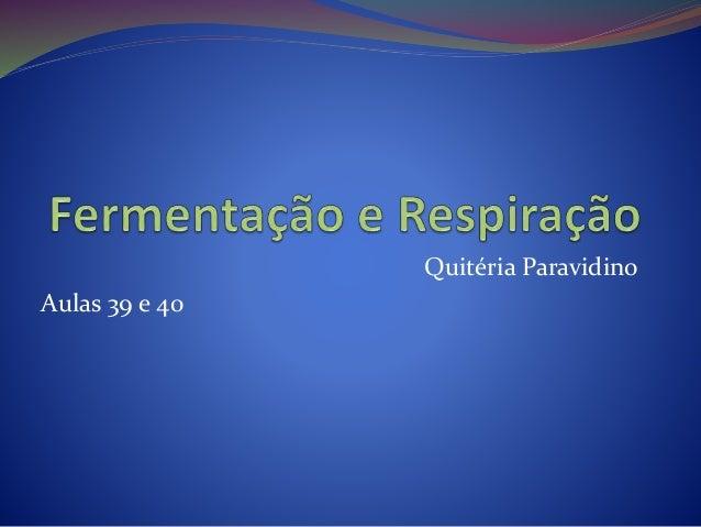 Quitéria Paravidino Aulas 39 e 40