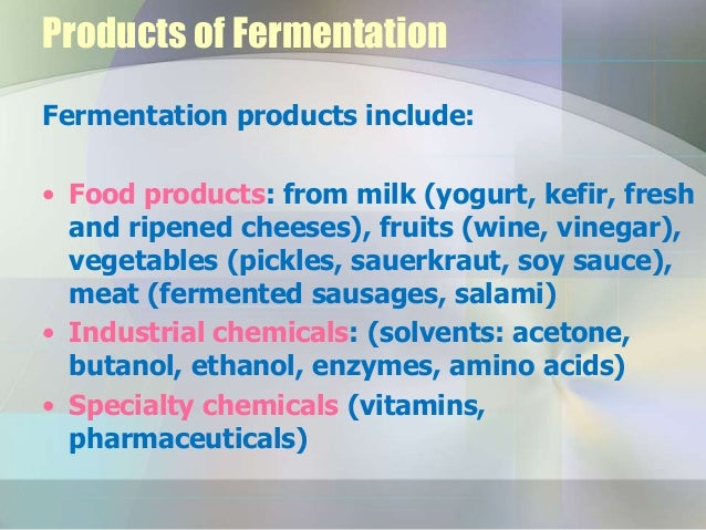 processes and applications of fermentation Our product porfolio spans the whole fermentation process  lipid feedstock for  specialty fermentation applications (soybean oil) medium culture preparation.