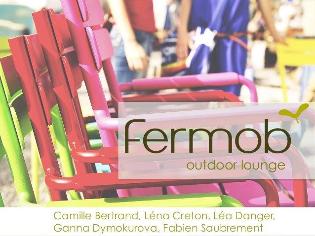 outdoor lounge Camille Bertrand, Léna Creton, Léa Danger, Ganna Dymokurova, Fabien Saubrement