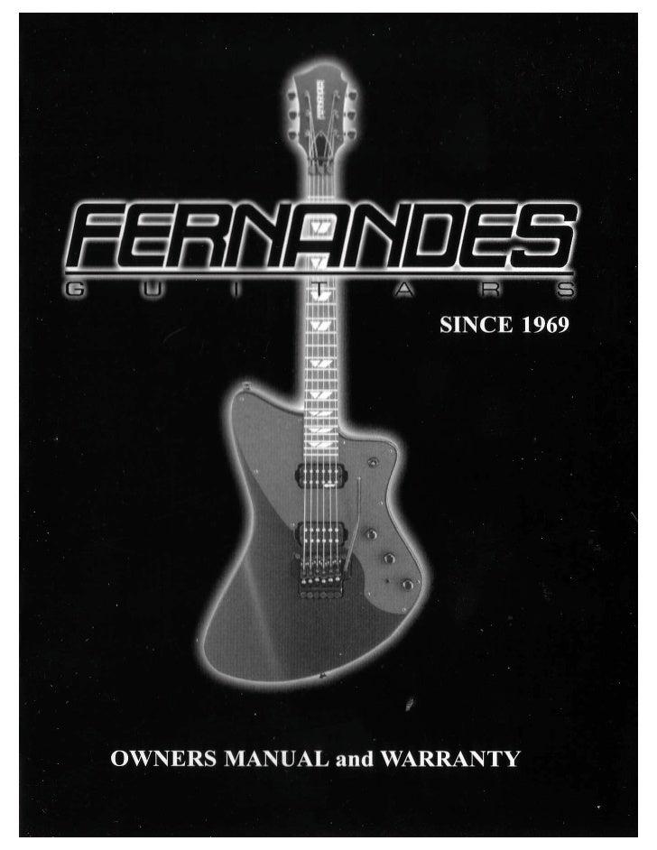 Fernandes guitars owners manual