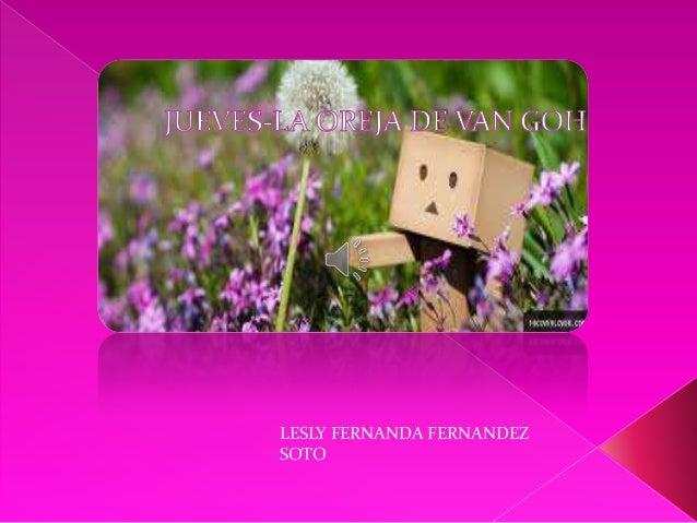 LESLY FERNANDA FERNANDEZ SOTO