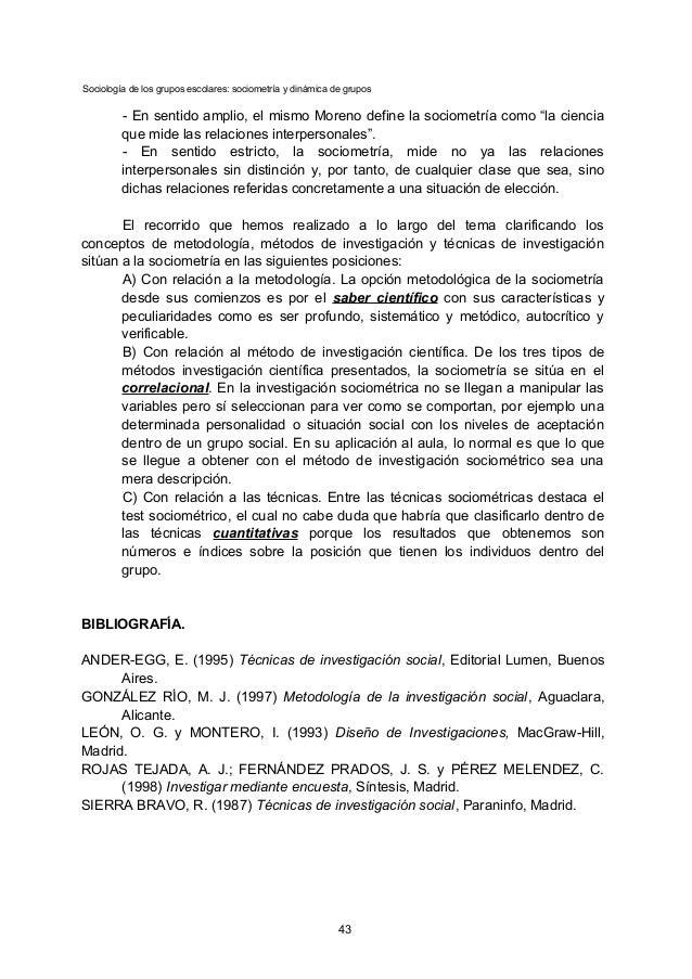 Sociología de los grupos escolares: sociometría y dinámica de grupos - En sentido amplio, el mismo Moreno define la sociom...