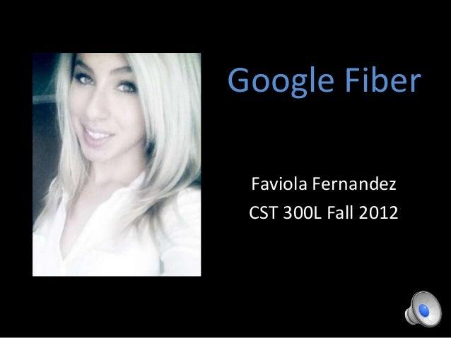 Google Fiber Faviola Fernandez CST 300L Fall 2012