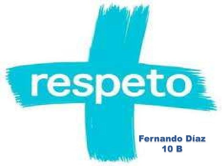 Fernando Díaz 10 B<br />