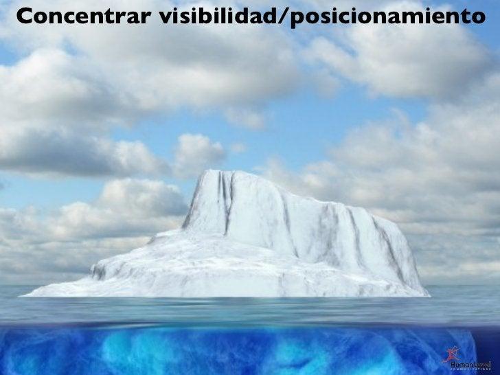 Concentrar visibilidad/posicionamiento   Páginas más rentables                       PPVV                       Ratio de c...