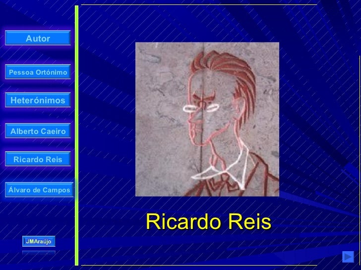 Autor   Pessoa Ortónimo    Heterónimos   Alberto Caeiro    Ricardo Reis   Álvaro de Campos                        Ricardo ...