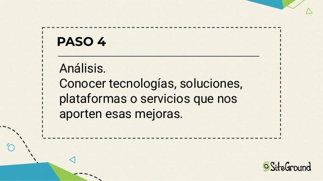 Sugerencias → No hay dos proyectos iguales, pero muchos comparten una base similar → Empezar desde el mismo momento del in...