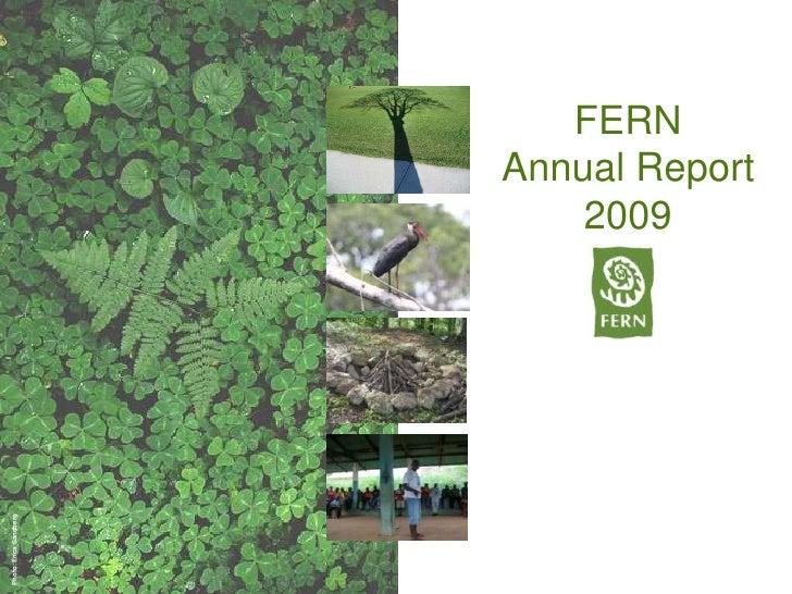 Fern annual report 2009 slideshare version