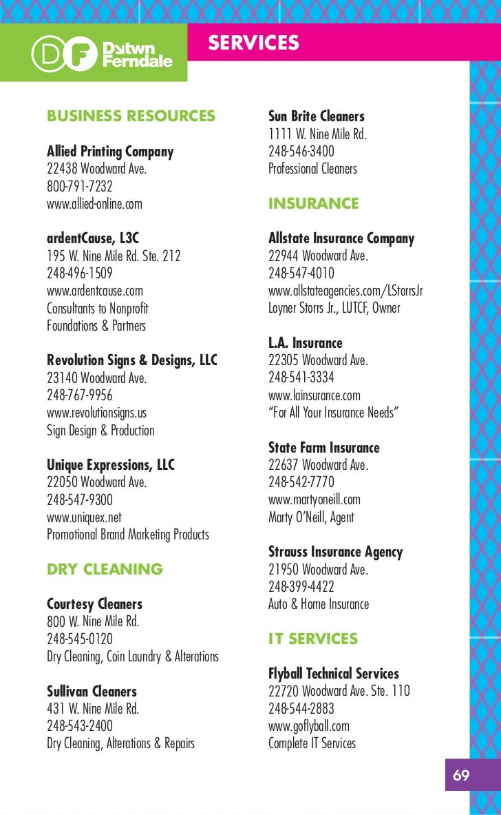 Downtown Ferndale Business Guide 2011