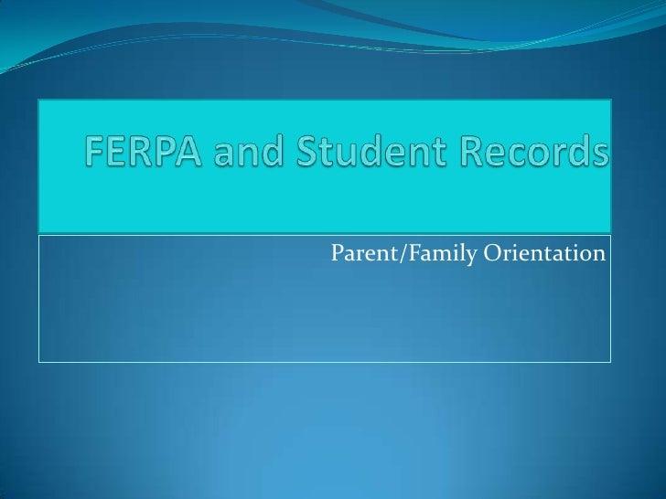 Parent/Family Orientation