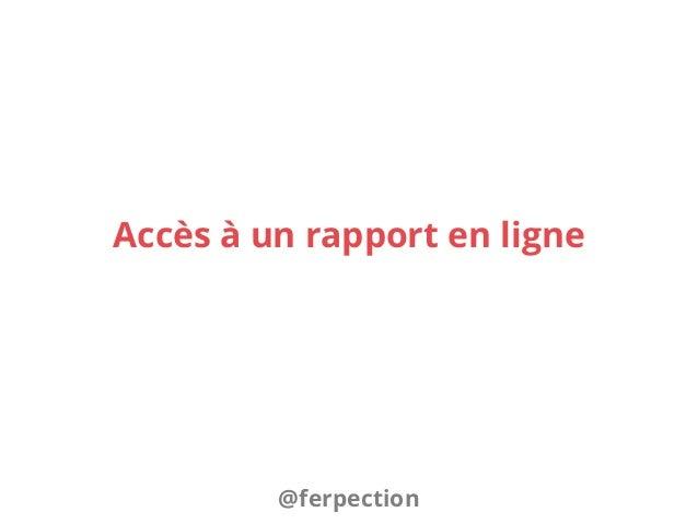 Accès à un rapport en ligne @ferpection